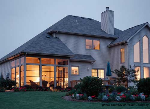 Beautiful three season porch with sliding windows