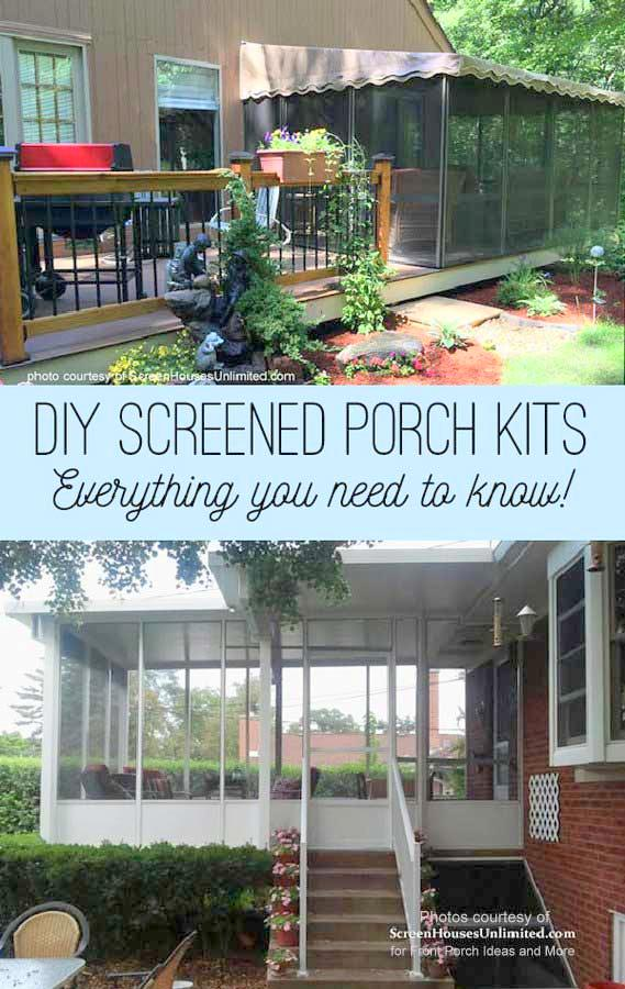 Get a DIY screen porch kit for your porch, deck or patio