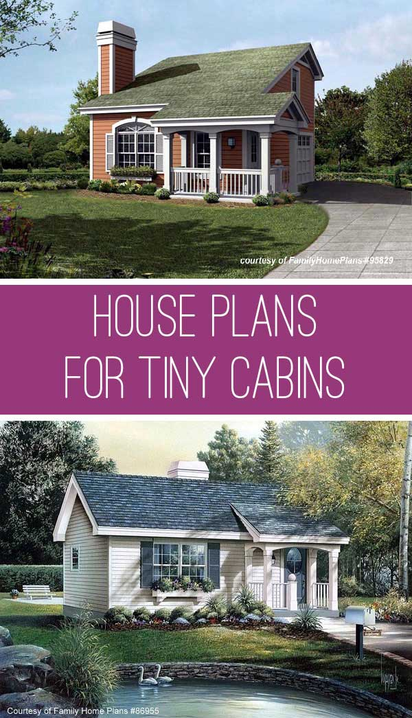 quaint small cabin house plan by family home plans