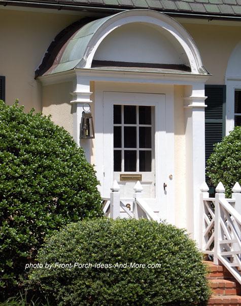 portico over front door