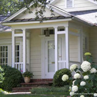 small front porch with double columns
