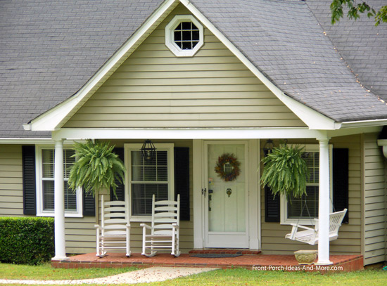 Popular wide gable roof on open porch