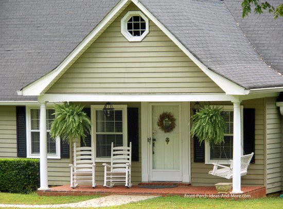 wide gable roof on open porch
