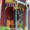 small victorian style front  porch