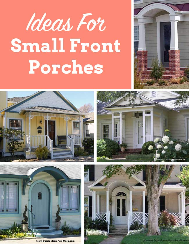 A small porch can be big on curb appeal and so very welcoming