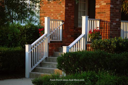 standard porch railing design