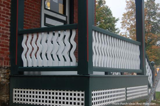 decorative small porch railings
