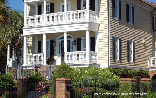 two level porches on southern home