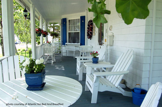 simplicity on the front porch of the Atlantic Inn Bed and Breakfast