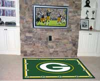 Outdoor Green Bay sports rug
