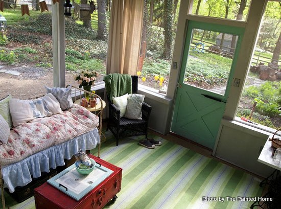 A view from above - Denise's screened porch all set for spring