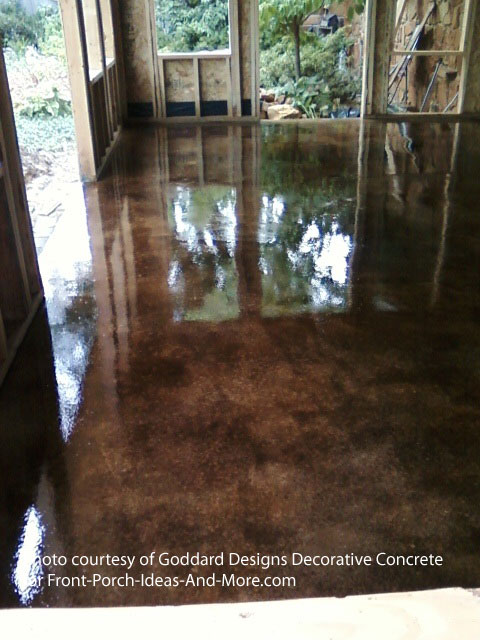 concrete staining sunroom