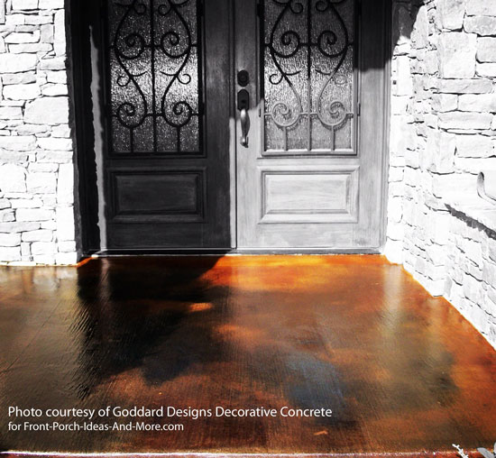 stained concrete on patio