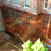 stained concrete front porch floor