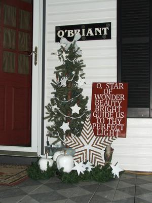 My star-themed Christmas tree