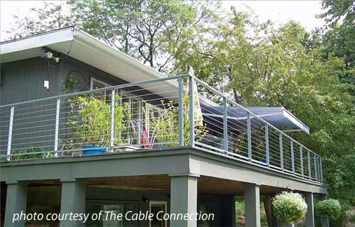 Steel Cable Railings On Balcony Above Carport