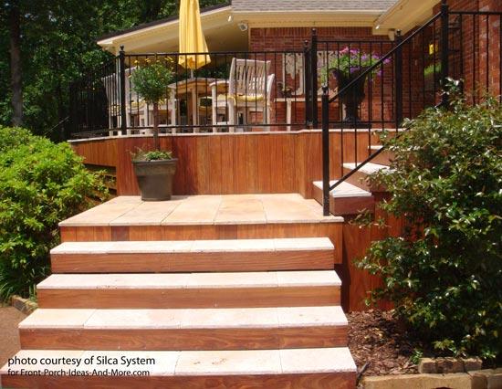stones on deck steps
