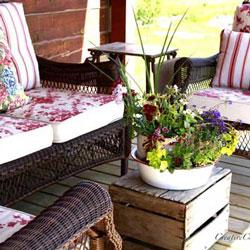 colorful porch furniture