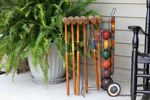 add a croquet set to your summer porch