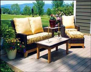 Sunbrella fabrics used for outdoor furniture cushions
