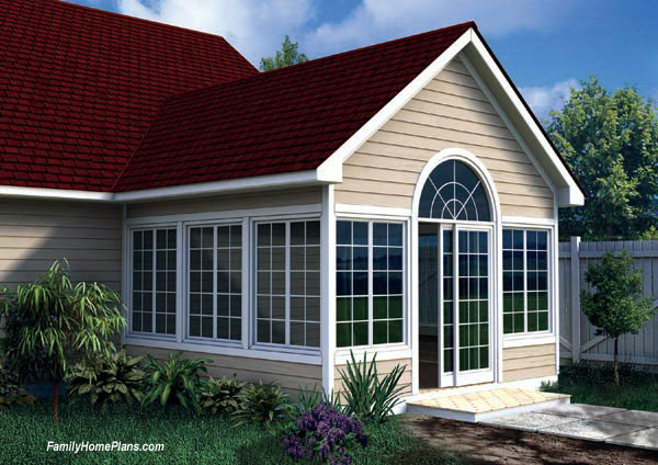 sunroom plan with gable roof