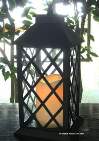 tall outdoor solar lantern by plow and hearth.com