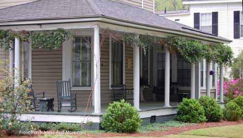 open front porch with wood flooring