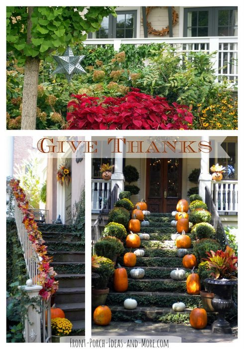 Thanksgiving collage of decorating pictures - remember to be thankful