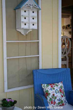 Easy decorating ideas - decorated screen