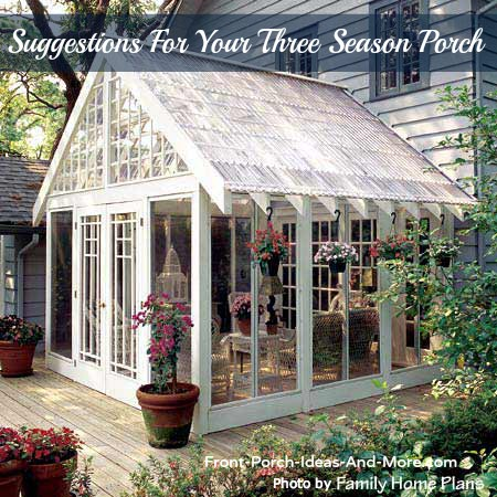 Beautiful three season porch with Screen Porch Windows
