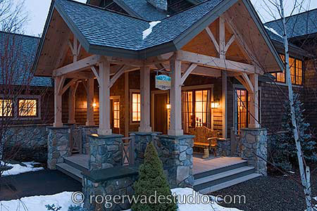 timber frame porch columns