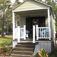 tiny house with front porch