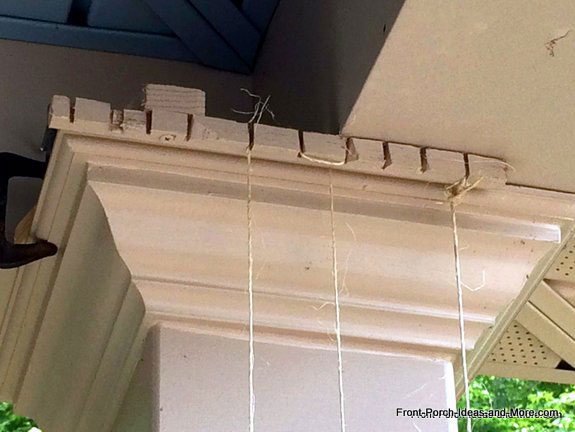 trellis support at top of porch column