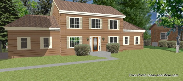 basic two story home with siding