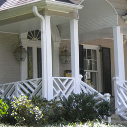painted and turned porch balusters