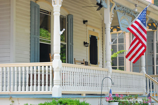 white turned porch railings add loads of curb appeal to your porch