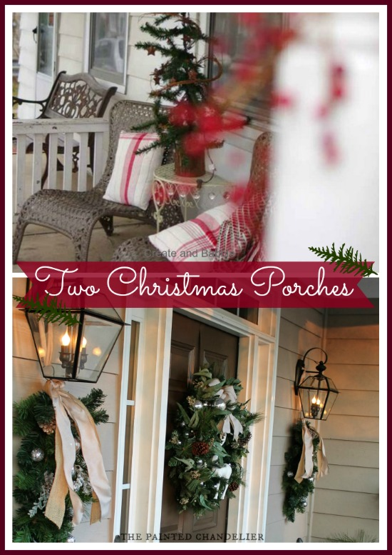 Two Christmas Porches