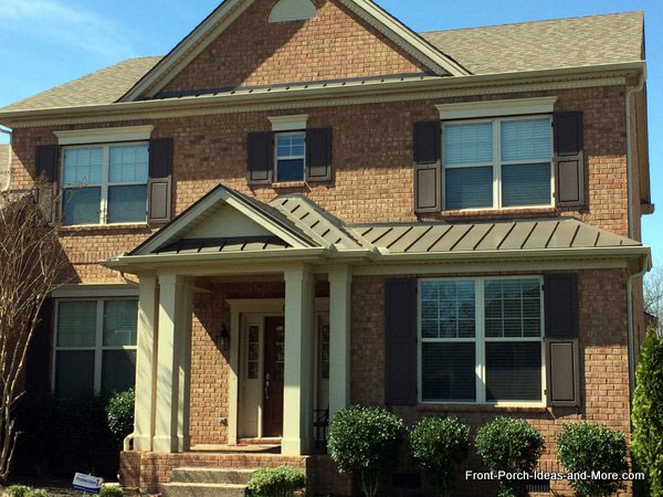 Elegant Hip Roof With Gable Over Front Porch