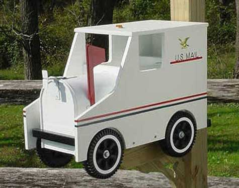 creative mailboxes - mail carriers truck