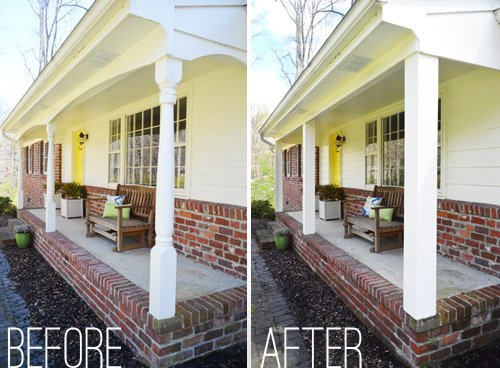 Updating the porch posts made a nice difference!