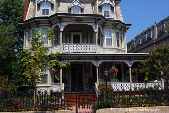 traditional Victorian home and front porch