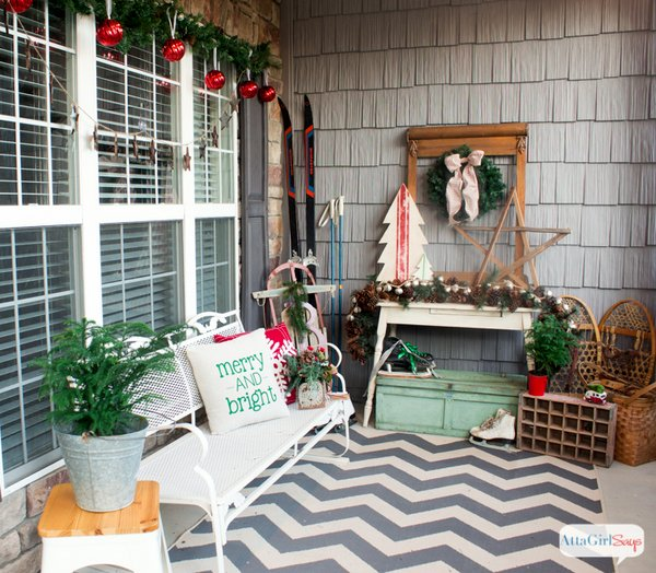 Atta Girl's Vintage Christmas porch decorations
