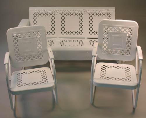 Vintage Metal Furniture Vintage Porch Furniture