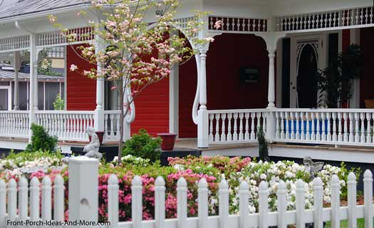 Beautiful front porch support columns
