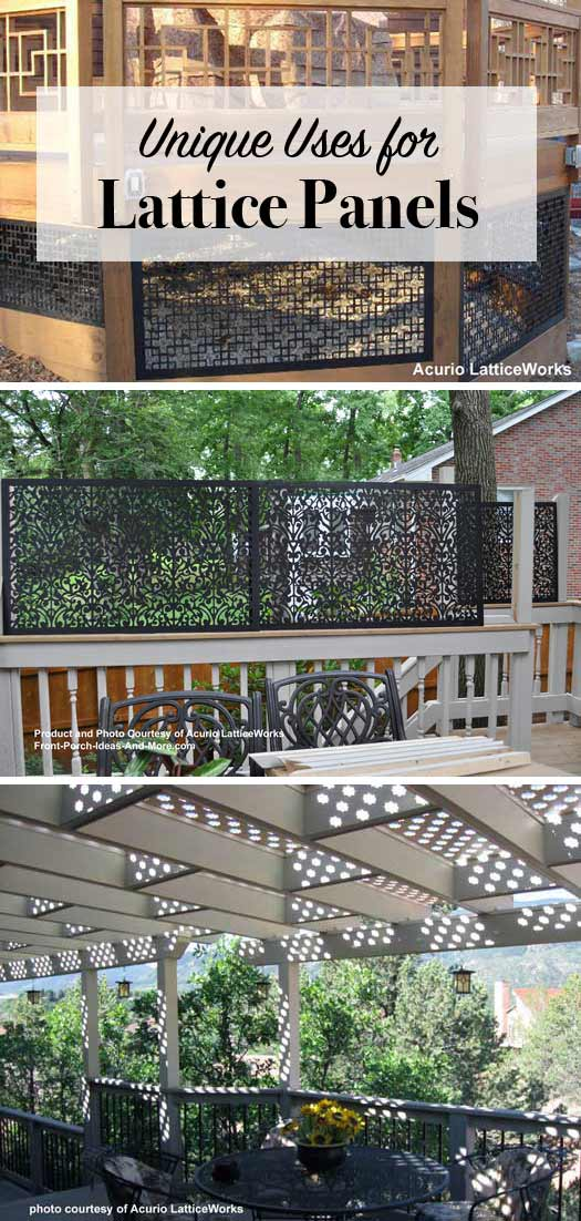 So many uses for vinyl lattice panels - from your porch and deck to interior updates. You have to see to appreciate the different ways.