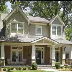 non-structural vinyl porch columns on home