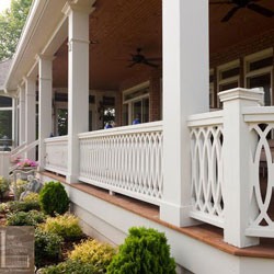 Vinyl Porch Railings On Front Porch. Vinyl Porch Railing Ideas