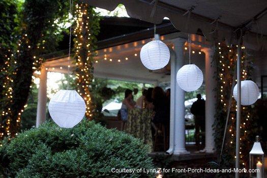 Lynn's daughter's wedding in the backyard