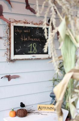 Our Countdown To Halloween Chalkboard!
