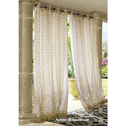 pretty white outdoor curtains with grommets